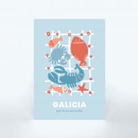 Postal Galicia «Pesca en el mar»