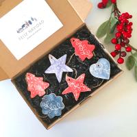 Set de adornos navideños